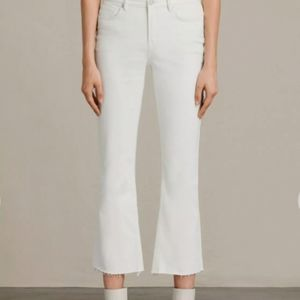 🆕 All Saints Zoe white jeans cropped
